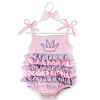 Hot sale! baby romper cute layers cake rompers gallus hip wrapped imperial crown baby girl's jumpsuit 690009
