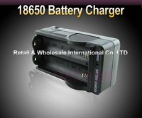 Free shipping,10pcs/lot,Travel Battery Charger Dual AC Charger For 2PCS 18650 Battery