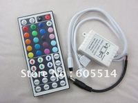 [Seven Neon]Free DHL shipping10sets 72W 44keys IR remote controller with DC jack for 5050 led smd RGB strip,led strip controller
