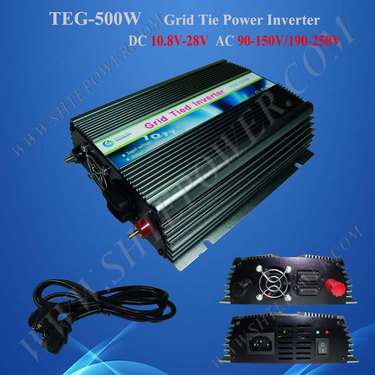 500W Grid Tie Solar Inverter for Home Use/ 10.8V-28V to 190V-250V/ Solar Power Inverter for Sale(China (Mainland))