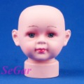 Free Shipping Children Fiberglass Mannequin Head For Imitation Hair Hat Girl
