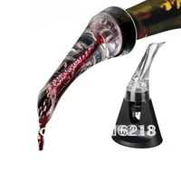Hot sell hawk aerating pourer & wine pourer /wine accessories essential wine aerator/color box packaging +free EMS shipping