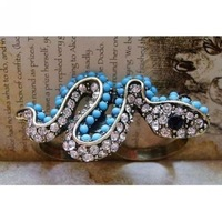Snake Double Finger Rings Shinning Rhinestone Snake Ring Fashion Jewelry Rings Jewellery Free Shipping 12pcs LTKE-1154