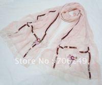 FREE SHIPPING,patchwork shawl,fashion ladies scarf,silk scarf,lace scarf,high quality shawl,hand made scarf,2012 new design