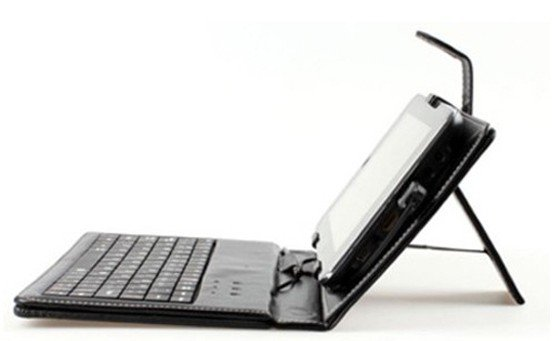 With German, 7 inch Leather Case Keyboard For Tablet PC