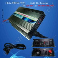500W Power Inverter for Solar Panel On Grid System, DC 22V-60V to AC 190V-250V, One Year Warranty, High Quality