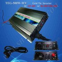 on grid tie micro solar inverter 500W Power Inverter for Solar Panel On Grid System, DC 22V-60V to AC 190V-260V High Quality