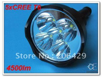 Outdoor SKY*RAY L1 5xCREE XM-L T6 4500Lumens Flashlight LED Torch