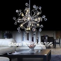 Free shipping  Modern Crystal Chandelier Drops with 15 Lights Pendant Lamp for Home Improvement  Indoor Lighting