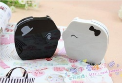 free shipping 12pcs/lot factory Wholesale Kay of lovers pig style contact lenses box/contact lens case Companion box/(China (Mainland))