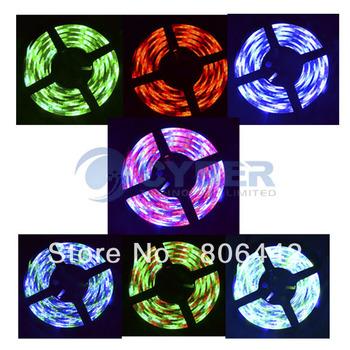 Promotion 5M RGB 3528 Flexible Waterproof 300 Led Strip Light +24 Keys IR Remote  dropshipping