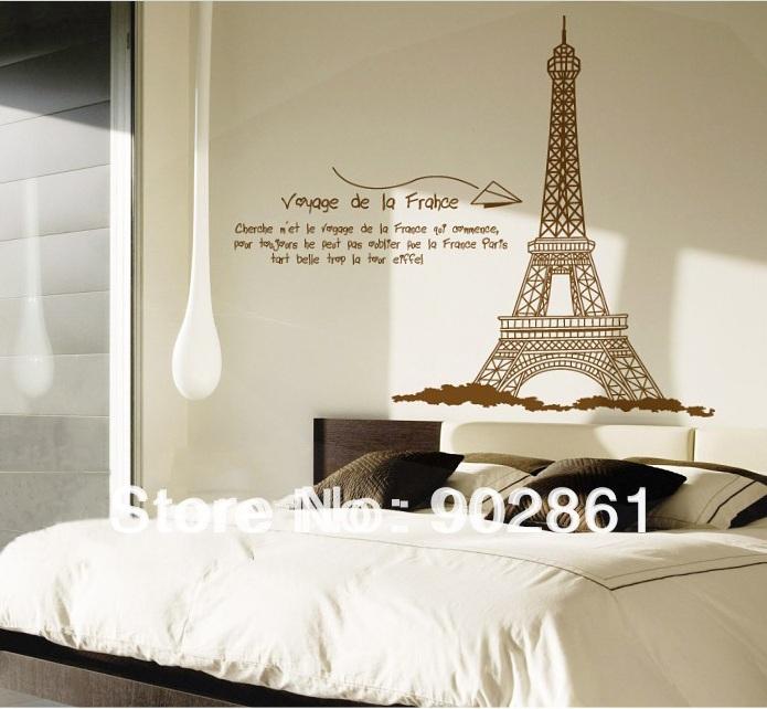 [ ] funlife parede decorativa -Grande removível Paris Torre Eiffel Sala Stickers(China (Mainland))