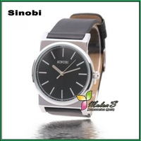 Mulan'S Sinobi S9352 ,2012 New Imported quartz movement Classic leather watch for women men Xmas gift ,FREE SHIPPING