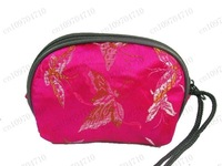 Free shipping 100 pcs New Silk Coin Purse Case Makeup Bag Multicolor Wallet Zipper Pouch