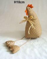 handwork fabic decoration-fabic chicken and rabbit sitting-H18cm-3designs12pcs/lot-free shipment