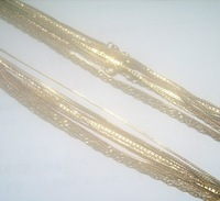 Free shipping 10Pcs/lot 1mm Mix Style Gold Plated Necklace Chain 17inch GO6