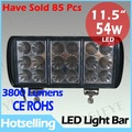 Super bright! High power 54W LED Offroad Driving work Light /LED light bar, LED off road light bar