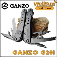 MOQ:1pc 100% Original Ganzo Knife 23 In 1 Multitool Knife Folding Knife Outdoor Fishing Steel Knife Survival F/ Hunter #G201