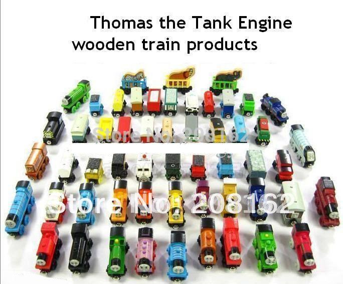 10 Pcs/Lot Thomas And Friends Train Car Wooden Complete Set Of Car Toy Engine Train Toys(China (Mainland))