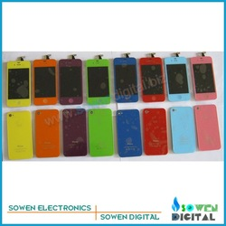 for iPhone 4s Colour LCD with touch screen assembly+Colour back cover+Colour button,Free shipping ,best price on the aliexpress(China (Mainland))