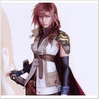 Free Shipping Custom Made Final Fantasy Cosplay Lightning Warrior Anime Costume,1.5kg/pc