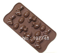 Soap Molds Cake Mold  Easter Day Egg Rabbit Flexible Silicone Mold/Mould For Soap Candle Candy Jelly Cake Craft