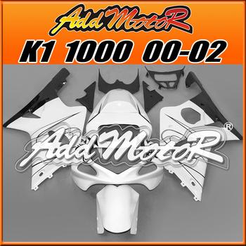 Addmotor Aftermarket Injection Mold Fairings For Suzuki GSX-R1000 GSXR1000 GSXR 1000 2000-2002 00-02 K1 Black White S1012