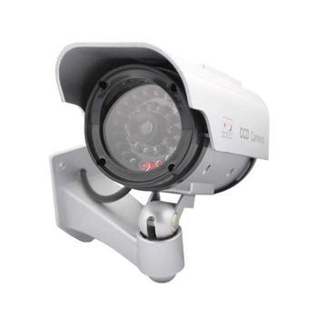 Solar Power Dummy Fake camera Outdoor Home CCTV Security Camera IR LED Light Monitor