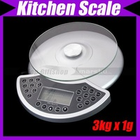 3kg x 1g High Precision Platform Digital Diet Food Kitchen Scale weighing  balance@2818