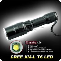 Zoomable Flashlight Adjustable Trustfire Torch 1300L CREE XML T6 Led Lampe de Poche Torche Zoomable Z6