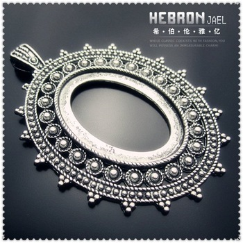 Free ship Tibetan Silver(10pcs) Zinc Alloy Jewelry Accessories Flower Pendants(3740#) 50*70 mm