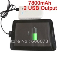 Free Shipping 7800mAh Universal Power Bank Charger for Laptop Samsung iPad Nokia Mobile Phone 2 USB Output
