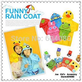 Funny Children  Rain Coat,Kids Animal Cartoon Design Rainwear Rainsuit Kids Waterproof Garment  Raincoat,CR001+Free Shipping