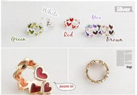 Free Shipping,Hot wholesale 12pcs/log ,Fashion Candy color  Ring , net: 5g, KM-60YW46