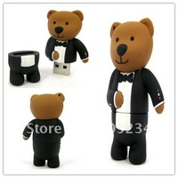 Wholease cute cartoon usb flash disk pen drive stick memory pendrive 4GB 4G free shipping