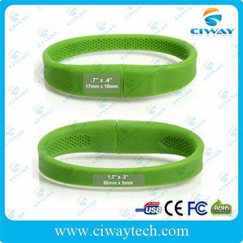 free shipping wholesale usb flash dirve wristband 4GB(China (Mainland))