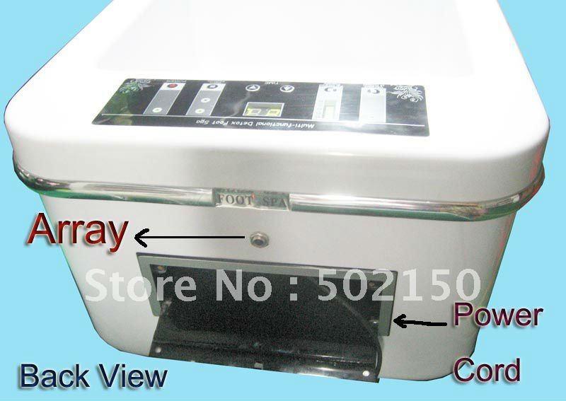 2 units/lot ion spa/ionic foot detox/Foot bath tub /ionic health spa Vibration wave WTH-301-N(China (Mainland))