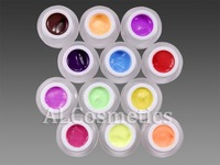 12 Colors Matte Frosted Solid Color Nail Art UV Gel Set Soak Off Nail Gel Kit