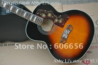 new arrival sj-200 acoustic guitar Vintage Sunburst  with Fishman presys blend Pickups acoustic Electric Guitar free shipping