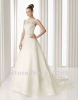 Free Shipping ND-21 Custom-made A-line Organza  and lace  Custom size  wedding gowns  Wedding Dresses