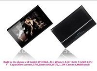Built in 3G WCDMA GSM  Android 2.3 Tablet phone calling capacitive Multi Touch GPS WIFI Camera  A10 1.0GHz  tablet