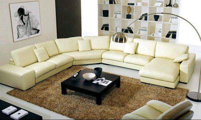 Groothandel meubelen hoekbank leer kopen meubelen hoekbank for V shaped living room