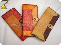 Free Shipping 10pcs/ lot Fashion Handmade Women's and Men's Genuine Leather Wallets and Purses