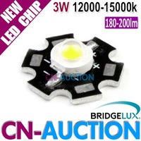 FS! Bridgelux 3W Cool White High Power LED Chip with Aluminum Plate,180-200lm,12000k-15000k 50pcs/lot (CN-BLC16) [Cn-Auction]