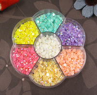 Free shipping! Half Pearl BeadS Flat Back 4mm Scrapbook for Craft FlatBack Colors