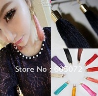 Free shipping fashion jewelry tassel earring metal earring lady earring