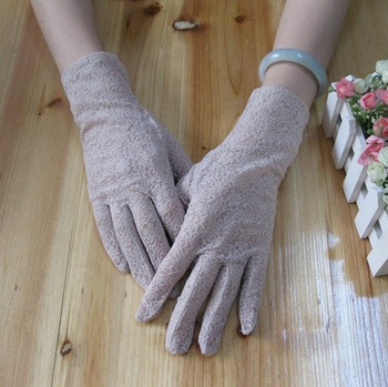 Wholesale - Beige  Lace Women's  Wedding Wrist Glove New arrival!!