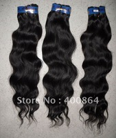 "12""-26"" 100% Virgin Brazilian remy human hair extensions weft natural black , Body wave 100g/pcs (3.5oz/pcs) free shipping"