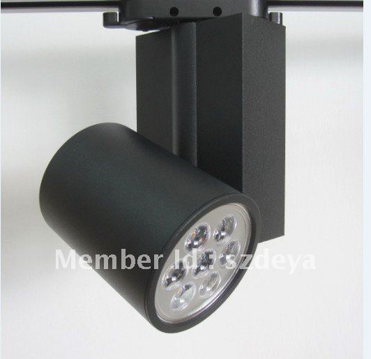 7w balck led track lighting hot sale white(China (Mainland))