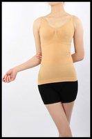 Women Slim Slimming Comfort Elastic Stretch Top Shirt Body Waist Shaper Vest 50pc/lot DHLFreeshipping